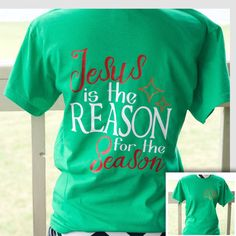 Monogrammed Jesus is the Reason for the Season by ElleQDesigns