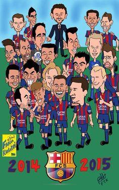 420. Caricature: Barcelona 2014/2015   [by @fahad_khashrami]