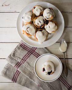 Blueberry Cinnamon Roll Muffins