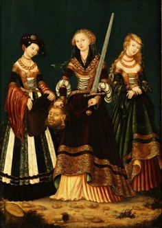"From the workshop Lucas Cranach the Elder, ""Judith with the head of Holofernes and the two attendants"","