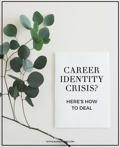 Are you having a career identity crisis? It's easy to do when in the midst of career change or uncertainty. Jump over to my blog and discover 5 ways to deal with it.