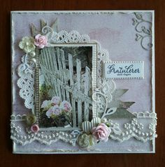 Damekort Scrapbook Layouts, Scrapbooking, Shabby Chic Cards, Card Designs, Birthday Cards, Romantic, Inspirational, Band, Frame