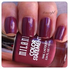One coat and no top coat of Mauving Forward by Milani. #nails #nailpolish #swatches #Milani .     Instagram: accnpl