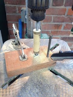 Picture of Drill Press As Wood Lathe