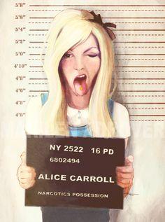 Alice's Mug Shot   Narcotics Possession   Artist Marilen Adrover