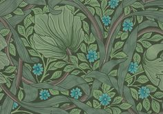 Sanderson hand-printed wallpaper, a 'Friday Gem' from the Stoddard-Templeton Design Archive