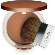 Clinique True Bronze Pressed Powder Bronzer .33 oz ($27) ❤ liked on Polyvore featuring beauty products, makeup, cheek makeup, cheek bronzer, sunswept, clinique and bronzing powder