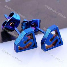 Pair Blue Stainless Steel Superman Symbol Ear Stud Men's Earring Punk Style   http://www.ebay.com/itm/Pair-Blue-Stainless-Steel-Superman-Symbol-Ear-Stud-Mens-Earring-Punk-Style-/320855966411?pt=LH_DefaultDomain_0&hash=item4ab48182cb