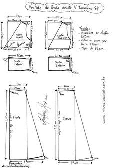 Выкройка платья, размер 36-46 (Шитье и крой) — Журнал Вдохновение Рукодельницы