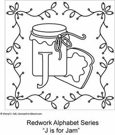 Redwork Alphabet Series - Part 2