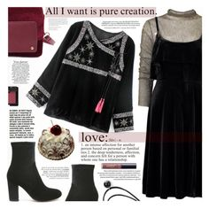"""VELVETastic :)"" by katjuncica ❤ liked on Polyvore featuring NARS Cosmetics, Whiteley, WALL, tarte, velvet, velvetboots, velvetdress, velvetbag and velvetjacket"