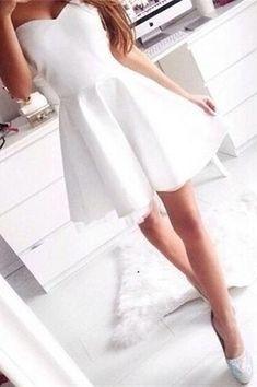 Simple Cheap Sweetheart Short Homecoming Dresses,Elegant Handmade Graduation