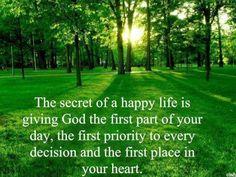 Put God first to have a happy life. Eleanor Roosevelt, I Am Second, God First, Spiritual Inspiration, Daily Inspiration, Christian Inspiration, Faith In God, God Is Good, Trust God