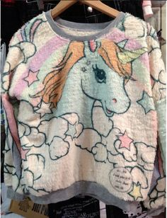Fuzzy Unicorn Sweater from lavagrantbelle shop
