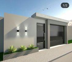 Best 12 Reggie' s modern wall – SkillOfKing. House Fence Design, Front Wall Design, Exterior Wall Design, Modern Fence Design, Modern Exterior House Designs, Modern House Facades, Dream House Exterior, Small House Design, Modern House Design