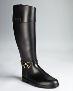 Moschino Rain Boots Bow Detail