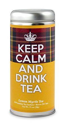 Keep Calm and Drink Tea- Breakfast Blend Tea: All-Natural Black Tea Blend, 24 Servings Rooibos Chai, Oolong Tea, Irish Breakfast Tea, Irish Tea, Sencha Green Tea, Raspberry Tea, Vanilla Chai, Keep Calm And Drink, Mint Tea