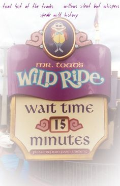Awe... The sign I worked on is still on the web. The ride is gone. It was replaced with Winnie The Pooh Ride.