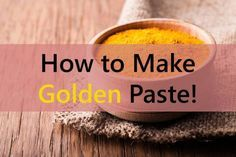 "Turmeric paste is also popularly known as ""GOLDEN PASTE"" and the reason is obvious why.  There are so many recipes available to make golden paste. The paste can prove to be super useful for both pets and humans. What is needed for making golden paste  	1/2 cup turmeric powder (125 mls"