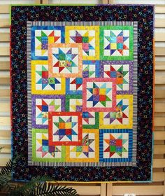 Quilt Patterns For Beginners | 407 Layered Stars ... by DianaBeaubien | Quilting Pattern