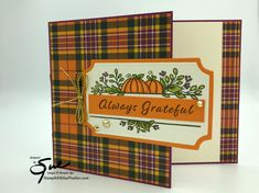 Stampin' Up! Celebration Tidings for Amy's Inkin' Krew Team Bog Hop | Stamp With Sue Prather Fun Fold Cards, Folded Cards, Fall Cards, Christmas Cards, Stamping Up Cards, Thanksgiving Cards, Card Making Inspiration, Card Sketches, Scrapbook Cards