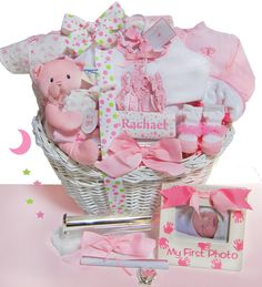 Minnie baby gift basket by fivebrownmonkies minnie mouse baby baby gift baskets simply unique baby gifts elegant beginnings luxury baby gift basket negle Image collections