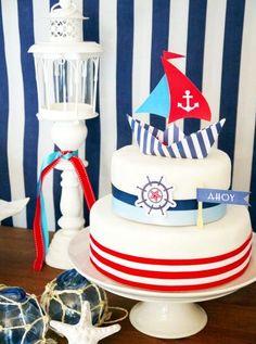 Nautical Themed Birthday-Cake