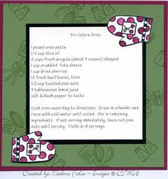 6x6 Recipe Card by nadine529 - Cards and Paper Crafts at Splitcoaststampers