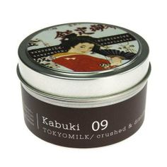 #MargotElena #TokyoMilk #Kabuki Crushed and Distilled Tin Travel #Candle, #Delightful #Fragrance, 0.22 Ounce by Margot Elena. The most remote of destinations becomes instantly familiar when you bring along a travel candle. Our #deeply fragranced #soy wax #blend burns evenly from the first moment to the last. #Tin #travel candle with the sweet fragrance of #sugared #grapefruit, #lychee & #sweet #jasmine that rounds out the #beautiful #aroma of this fine candle !