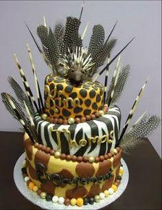 Another Afro-wedding cake idea