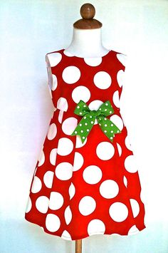 Girls Christmas Dress Toddlers Christmas Dress by 8thDayStudio, $47.00