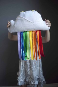 Cloud & Ribbon Rainbow Travel Pillow...again, right up Ava's alley!