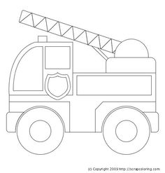 Fire truck coloring page