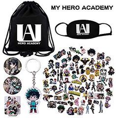 KINON My Hero Academia Gift Sets 1 Drawstring Bag 73 Cartoon Laptop Stickers - Ring Holder - Ideas of Ring Holder - KINON My Hero Academia Gift Sets 1 Drawstring Bag 73 Cartoon Laptop Stickers 1 Face Mask 2 Button Pins 1 Phone Ring Holder 1 Keychain My Hero Academia Merchandise, Anime Merchandise, My Hero Academia Memes, Hero Academia Characters, My Hero Academia Manga, Boko No Hero Academia, Anime Gifts, Cosplay Outfits, Casual Cosplay