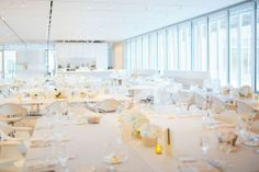 All white and gold for a classic modern wedding. JDetailed Events I Chicago Event & Wedding Planner. Photo by Stoffer Photography.