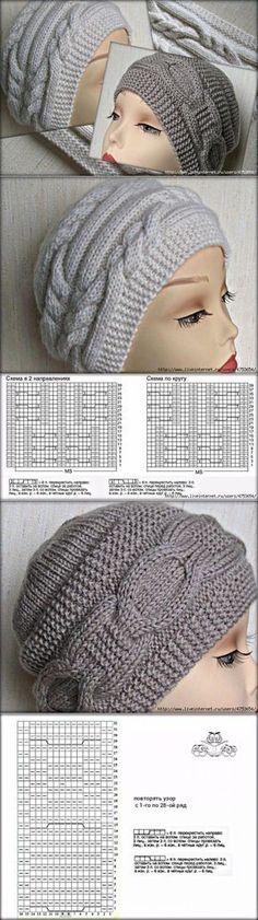 Шапочки от Риана (riana-design) - - Knitting patterns, knitting designs, knitting for beginners. Poncho Knitting Patterns, Loom Knitting, Knitting Stitches, Knitting Designs, Baby Knitting, Crochet Patterns, Crochet Baby Hats, Knitted Hats, Knit Crochet