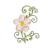 {Flower- Cute Floral Applique PCS128 By OregonPatchWork K.H.}  click to download