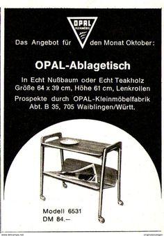 Original-Werbung/ Anzeige 1962 - OPAL ABLAGETISCH / KLEINMÖBEL - WAIBLINGEN - Ca. 60 X 80 Mm - Werbung
