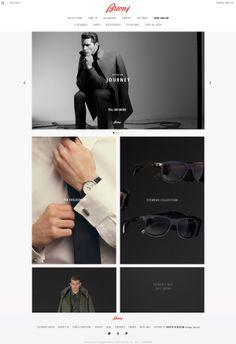 Brioni website / e-commerce on Web Design Served