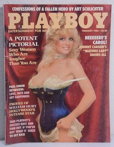 The best Playboy Magazine cover from each year it has ever been printed. Paul Simon, Hurt Johnny, William Hurt, Crime, Johnny Carson, Jenny Mccarthy, Rob Lowe, Hugh Hefner, Poster