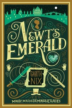 """Inspired by the works of Georgette Heyer and Jane Austen, Garth Nix's Newt's Emerald is a Regency romance with a fantasy twist. New York Times bestselling author Gail Carriger calls it """"charming; quite, quite charming."""" After Lady Truthful's magical Newington Emerald is stolen from her she devises a simple plan: go to London to recover the missing jewel. She quickly learns, however, that a woman cannot wander the city streets alone without damaging her reputation, and she disguises herself…"""