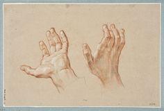 Study of two hands, by Antoine Coypel (1661-1722). National Museum, Sweden