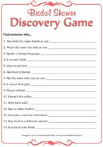 Wedding Freebies | Free Printable Bridal Shower Games