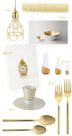 gold decor-Color of the month-September - repinned by www.dobundle.com