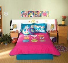 Decoración de Habitaciones Juveniles con Símbolos de Paz y Amor : Decorar tu Habitación