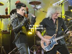 Brian May & Adam Lambert, London show, 12th July 2012   Source: Melissa for @AdamLambertBE