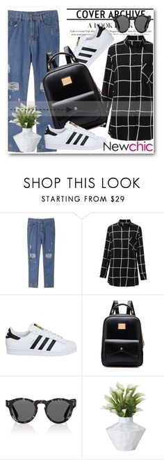 """NewChic !"" by dianagrigoryan ❤ liked on Polyvore featuring adidas, Illesteva and Torre & Tagus"