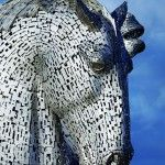 Giant 'Kelpies' Horse Head Sculptures Tower Over the Forth