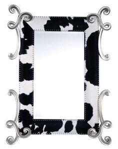 Modern Mirror from APF Munn - Gaucho Mirror Modern Mirror Design, Modern Mirrors, Gaucho, Home Interior, Interior Decorating, Interior Design, Animal Print Decor, Mirror Border, Black White