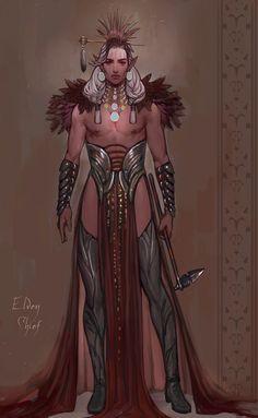 ArtStation – Elven Chief -Character design, by Nazanin Nemati Fantasy Character Design, Character Design Inspiration, Character Concept, Character Art, Concept Art, Dnd Characters, Fantasy Characters, Estilo Tribal, Arte Cyberpunk